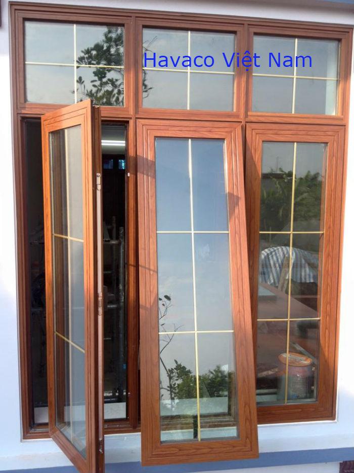 Cửa nhôm Xingfa nhập khẩu vân gỗ