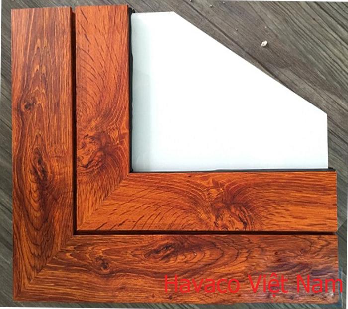 góc nhôm kính giả gỗ