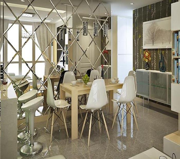 Gương trang trí ốp tường phòng ăn