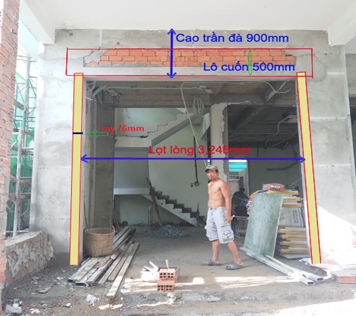 Cách tính kích thước cửa cuốn