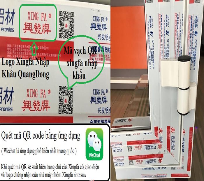 Kiểm tra thanh nhôm Xingfa tem đỏ chính hãng Quảng Đông