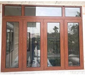Cửa nhôm Xingfa vân gỗ tại Hà Nội, HCM - Mẫu cửa đẹp