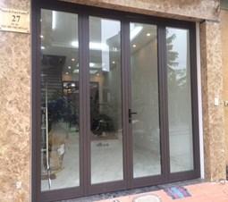 Báo giá cửa nhôm Xingfa màu nâu cafe - Mẫu cửa đẹp