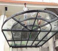 Mái kính vòm - cửa nhôm kính ở Khách Sạn Sơn Nữ Bắc Kạn