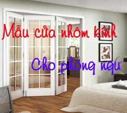 Mẫu cửa phòng ngủ bằng nhôm kính