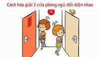 Hóa giải hai cửa phòng ngủ đối diện nhau