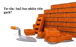 1 mét vuông tường bao nhiêu viên gạch