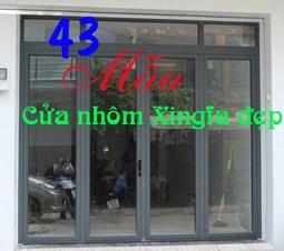 43 mẫu cửa nhôm Xingfa nhập khẩu chính hãng đẹp