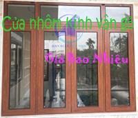 Cửa nhôm kính vân gỗ giá bao nhiêu