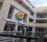 Thi công mái kính trường học mầm non ở Tôn Đức Thắng, Đống Đa, Hà Nội