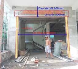 Cách xây tường để chờ lắp đặt cửa cuốn.